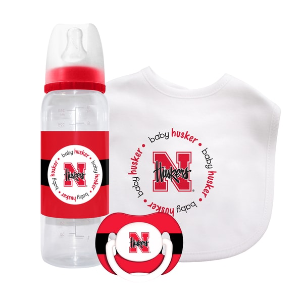 Baby Fanatic Nebraska Cornhuskers 3-piece Baby Gift Set