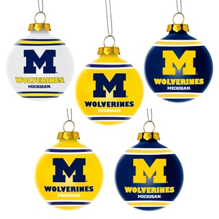 Forever Collectibles Michigan Wolverines Shatterproof Ball Ornament Set
