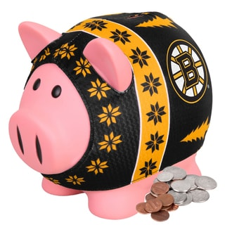 Forever Collectibles Boston Bruins Ugly Sweater Piggy Bank