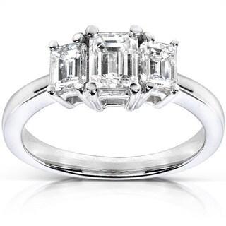 Annello 14k Gold 1ct TDW Diamond Three-stone Ring (H-I, SI1-SI2)