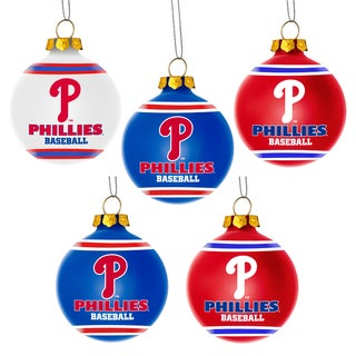 Forever Collectibles Philadelphia Phillies Shatterproof Ball Ornament Set