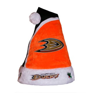Forever Collectibles Anaheim Ducks 2015 NHL Polyester Santa Hat