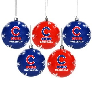 Forever Collectibles Chicago Cubs Shatterproof Ball Ornament Set