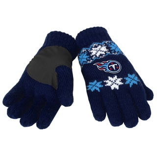 Forever Collectibles Tennessee Titans Lodge Gloves with Padded Palms