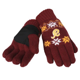 Forever Collectibles Washington Redskins Lodge Gloves with Padded Palms