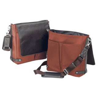 Bellino Euro Leather Shoulder Vertical Flapover Messenger Bag