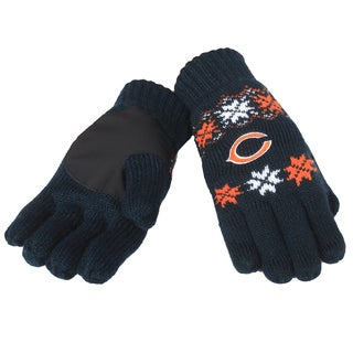 Forever Collectibles Chicago Bears Lodge Gloves with Padded Palms
