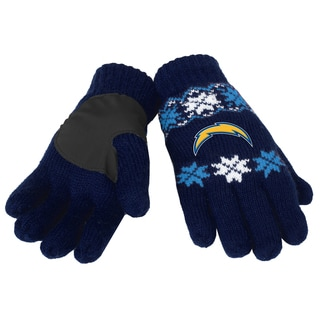 Forever Collectibles San Diego Chargers Lodge Gloves with Padded Palms