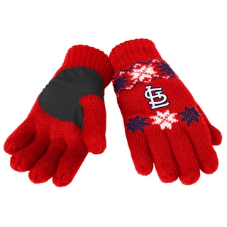 Forever Collectibles St. Louis Cardinals Lodge Gloves with Padded Palms