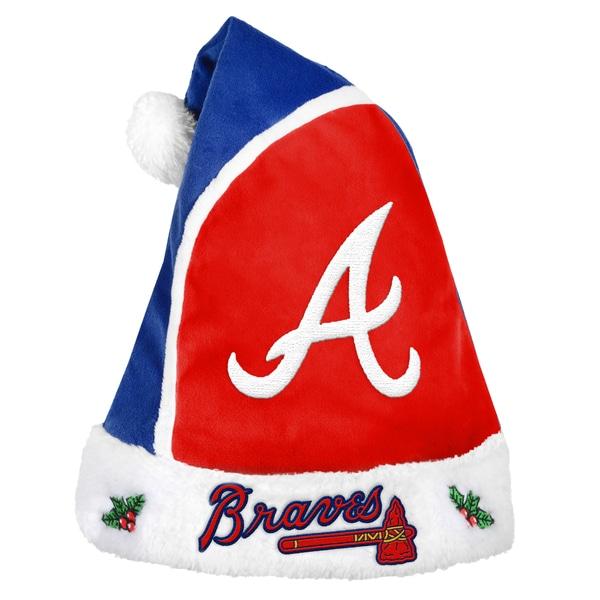 Forever Collectibles Atlanta Braves 2015 MLB Polyester Santa Hat