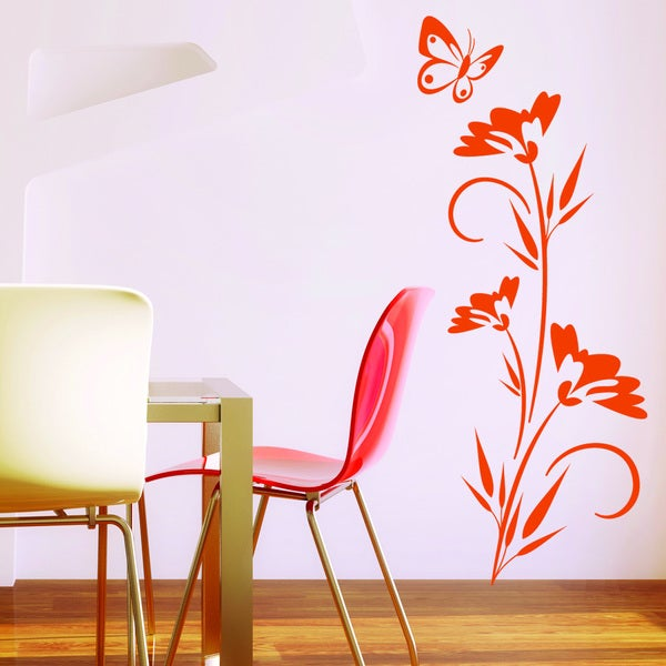 Lonely Butterfly Vinyl Mural Wall Decal