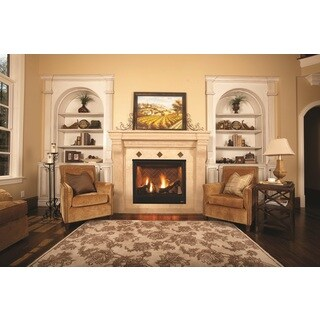 "40"" Premium Superior Direct Vent Fireplace with Vintage Red Panels"