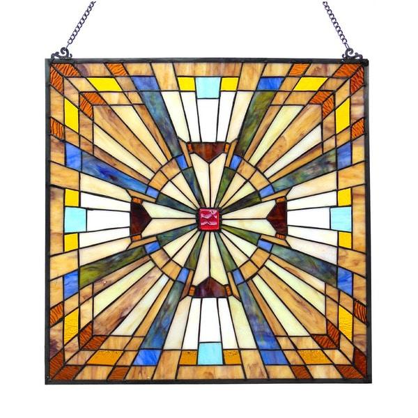 Chloe Lighting Tiffany Style Art Deco Design Window Panel/Suncatcher