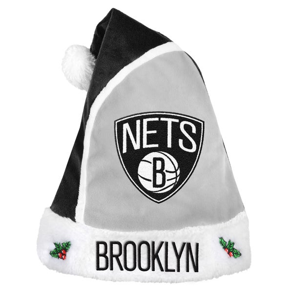 Forever Collectibles Brooklyn Nets 2015 NBA Polyester Santa Hat