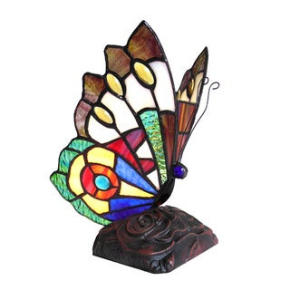 Chloe Tiffany Style Butterfly Design 1-light Accent Lamp