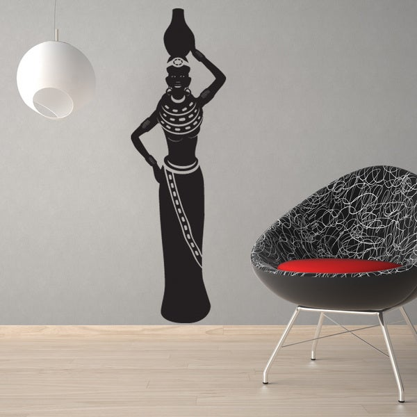 African Woman Ii Vinyl Mural Wall Decal