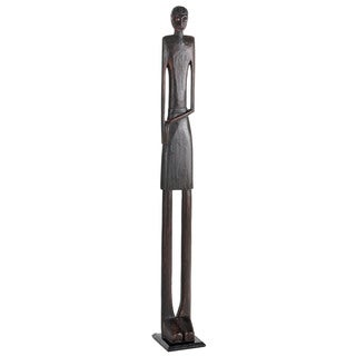 Tall Primitive Tribal Man Statue 54 Inch (Indonesia)