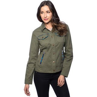 Women's Piped Trim Jean Jacket
