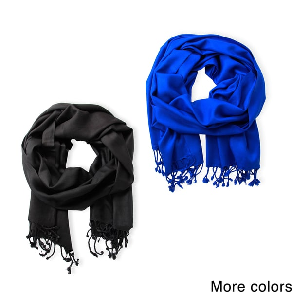 Set of 2 Unisex Solid Saachi Scarves (India)