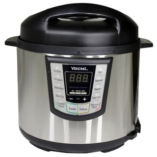 Versonel VPC6-3U Stainless 6 Quart Programmable 6-in-1 Electric Pressure Cooker