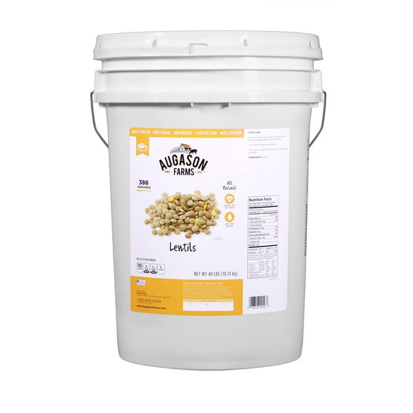 Augason Farms Lentils 6-gallon Pail