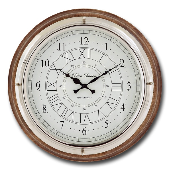 Penn Station Round Wall Clock