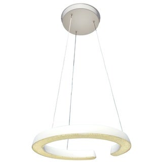 White 18 Inch Halo LED Chandelier