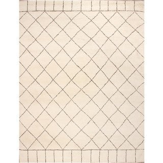 ABC Accents Moroccan Beni Ourain Dara Wool Ivory Rug (9' x 12')