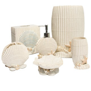 Ivory Sea Shell Hand Crafted Bath Accessory Collection