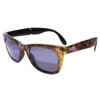 Folding Yellow Demi with Black Coating Sunglasses