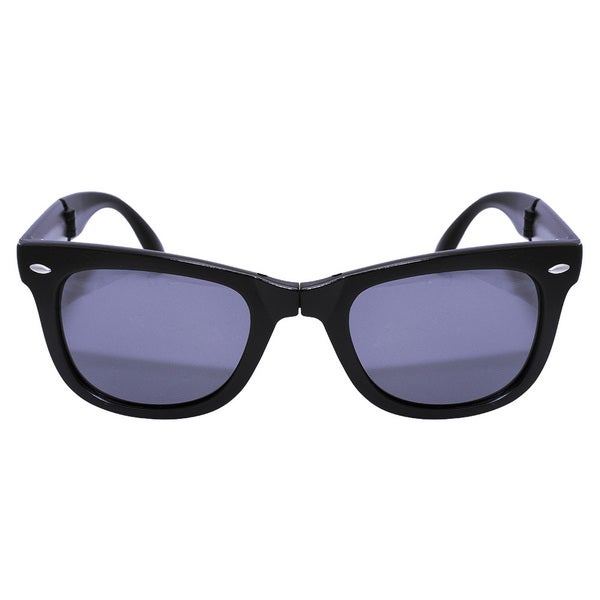 Folding Matt Black Sunglasses