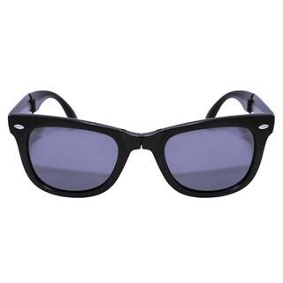 Folding Matt Black Sunglasses