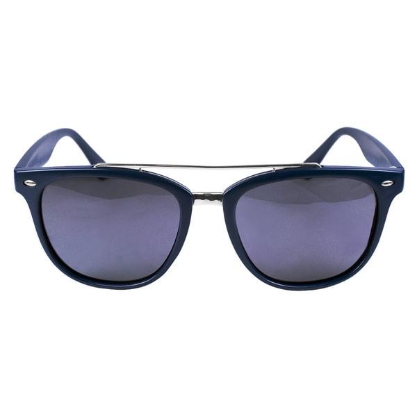 Classic Aviator Matt Navy Blue Sunglasses