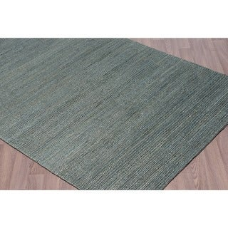 Woven Natural Jute Rugs Blue (5'x7 1/2')