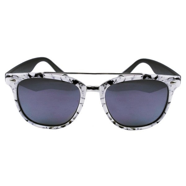 Aviator Grey Black Marble/ Grey Temples Sunglasses