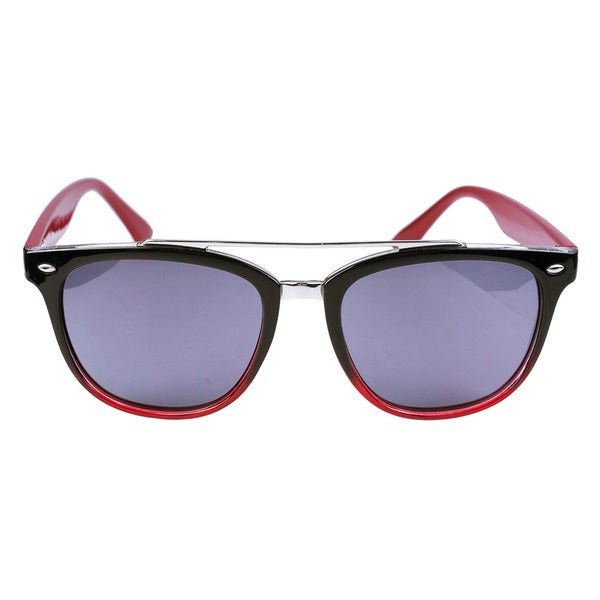 Classic Aviator Sunglasses Black/ Red, Red Temples