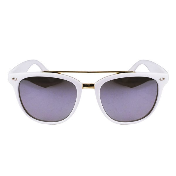 Classic Aviator Matt White Sunglasses
