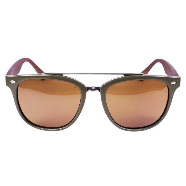 Classic Aviato Khaki Wood Coating Sunglasses