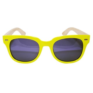 Bamboo Neon Yellow Sunglasses