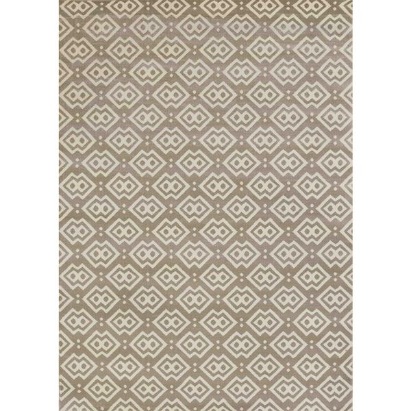 Bronte Disc Light Beige Area Rug (5'3 x 7'3)