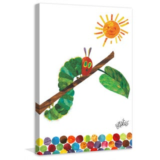 """Marmont Hill - """"Crawling Caterpillar 2"""" by Eric Carle Painting Print on Canvas"""
