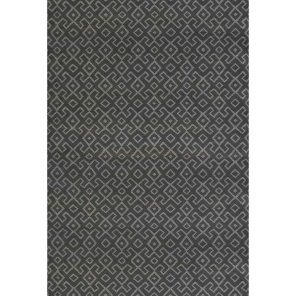 Bronte Aztec Dark Grey Area Rug (7'10 x 10'6)