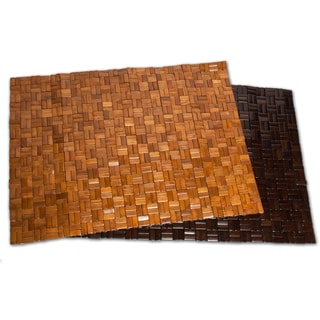 Eco Friendly Rattan Bamboo 20 x 30 Bath Mat