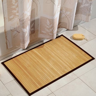 Superior Strength Water Resistant Natural Maple Colored Bamboo 21 x 34 Bath Mat