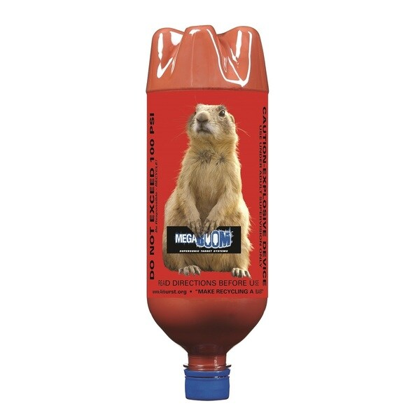 MegaBOOM 1 Liter Prairie Dog Bottles with BoomDust, 6-Pack