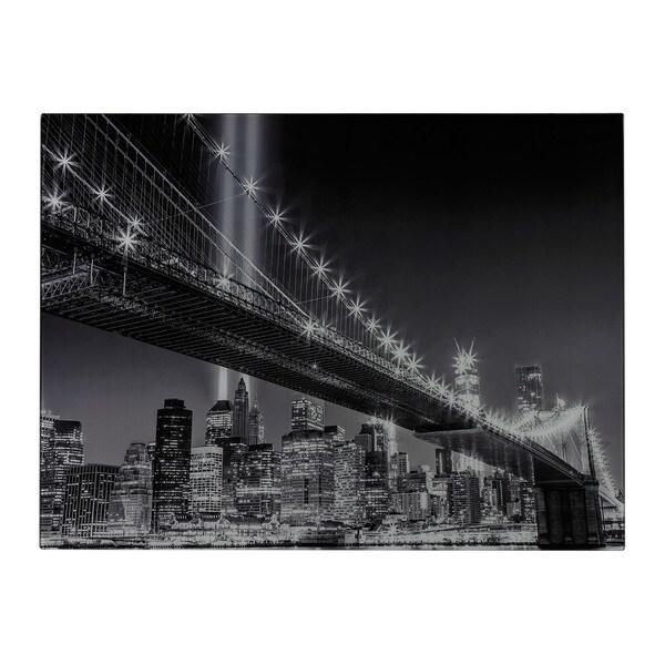 Williamsburg Bridge Image Printed On Glass Wall Art