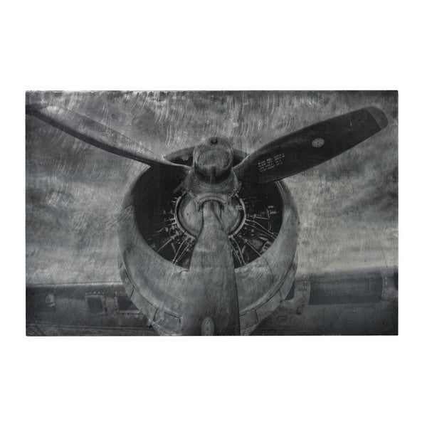 Alton' World War II Airplane Print Etched Print On Aluminum Wall Art