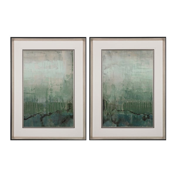 Emerald Sky I, II' Limited Edition Print On Fine Art Paper Under Glass Wall Art