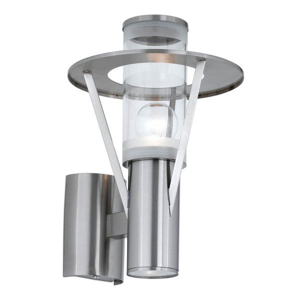 Belfast Outdoor Wall Light with Stainless Steel Finish and Clear Glass