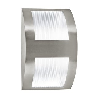Talia Stainless Steel Finish and Satin Glass Outdoor Wall Light